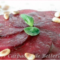 """Carpaccio"" de betterave"
