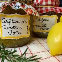 Coucou du dimanche et utiliser les produits du potager: Confiture de tomates vertes au citron